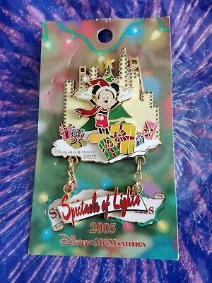 Disney Osborne Family Spectacle of Lights 2005 Mickey Mouse Logo Dangle MGM pin