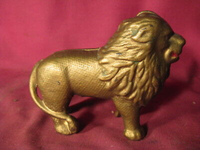 Rare Quilted Lion Cast Iron Still Bank (Moore # 758)