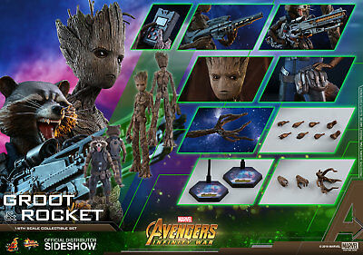 Hot Toys Groot Rocket 1/6 Figure Guardians of the Galaxy Sideshow NEW PREORDER