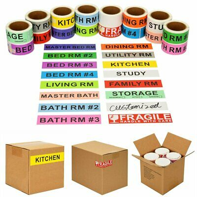 960pcs Home Moving Color Coded Stickers Supplies Boxes Packing w/ 60 Blank Label