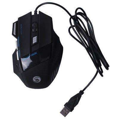 DPI 7 Button LED Optical USB Wired Gaming Mouse Mice for Pro Gamer E0Xc F5M6