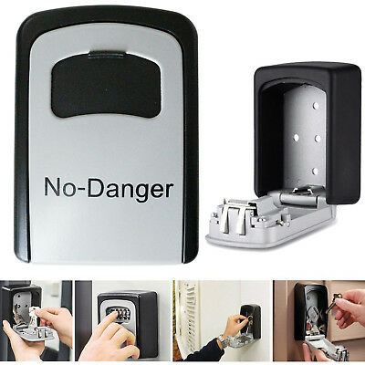 4 Digit Wall Mounted Key Box Secure Lock High Security Combination Storage UK