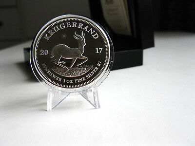 2017 South Africa Silver Proof 1oz Krugerrand Coin in Case with COA & Slip