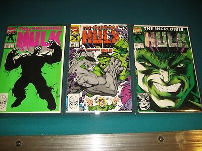 Marvel Comics Incredible Hulk issues 376, 377 and 379!