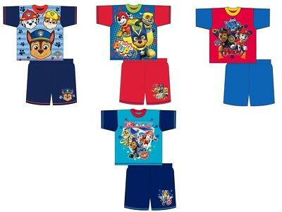 Boys Girls Kids Paw Patrol Shorts Pyjamas Nightwear PJs Shorts Sleeves