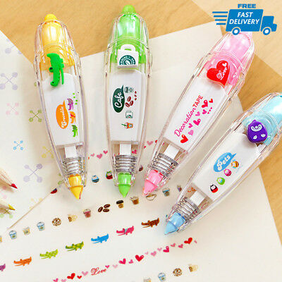 New! Cute Funny Stationery Push Correction Tape For Students Gifts Multicolor