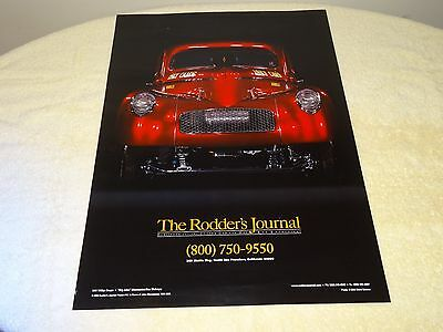 The Rodder's Journal Dbl Sided Poster #10 2006 '41 Willys Coupe/'54 Car Show
