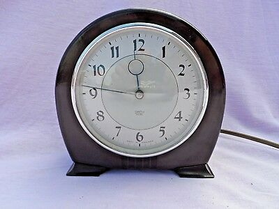 Vintage Art Deco Smiths Bakelite Electric Mantle Clock Perfect Condition Gwo