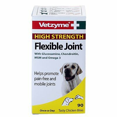 Vetzyme High Strength Flexible Joint, 90 Tablets - Dog/Puppy/Animal!