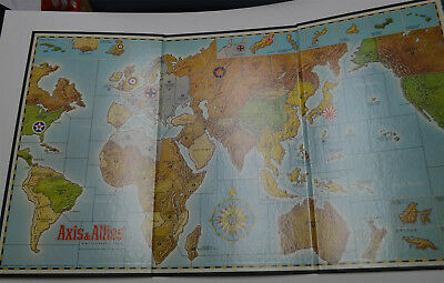 AXIS & ALLIES Board Game 1984 Milton Bradley Replacement BOARD Only