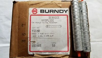 Yss4R Burndy #4 Hysplice Box Of 50