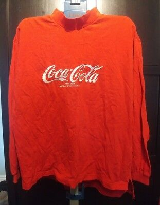 Vintage Coca Cola Embroidered Long Sleeve size XL