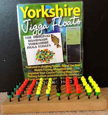 YORKSHIRE JIGGER  FLOATS x6 set FEATURED IN ANGLING TIMES