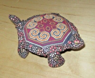 Floral Design Turtle Pin Cushion, Free Shipping