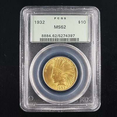 1932 US Indian Head Gold Eagle $10 Dollar PCGS MS62 Nice Collector Coin PM4397