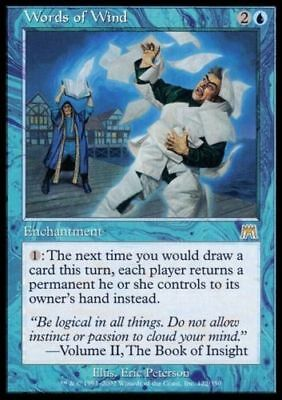 1x WORDS OF WIND - Rare - Onslaught - MTG - NM - Magic The Gathering