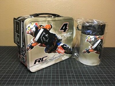 Ricky Carmichael Honda #4 Lunch Box Rare Brand New With Thermos Fox Motocross