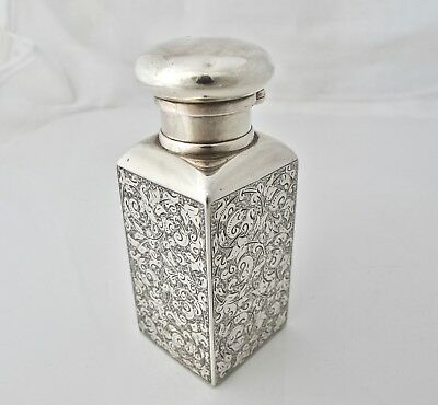 Stunning rare Victorian large silver scent bottle SAMPSON MORDAN London 1883