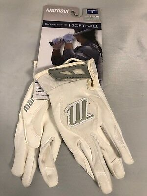Marucci Softball Batting Gloves Size Womens Small Color White