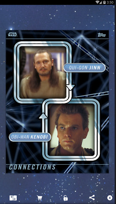 Topps STAR WARS Card Trader Connections Mentors & Proteges Qui-Gon Obi-Wan 500cc