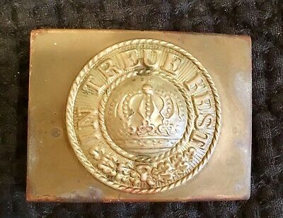 Pre-WW1, Bavarian Enlisted Man's Brass Belt Buckle, Kingdom of Bavaria