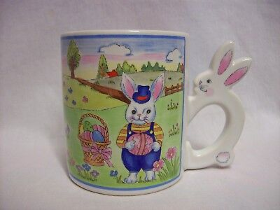 Easter Cup Mug Sculpted Handle