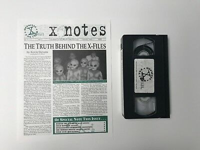 """Official """"X-FILES"""" Fan Club EXCLUSIVES Electronic Press Kit, Newsletters 1995"""