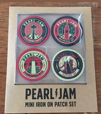 """PEARL JAM """"SEATTLE"""" HOME SHOW PATCH SET Aug 8th & 10th - Safeco Field"""