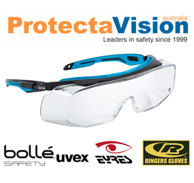 New Bolle TRYON Overspec Safety Glasses Anti-Scratch Anti-Fog Clear   Smoke  Lens 6783da691fe6