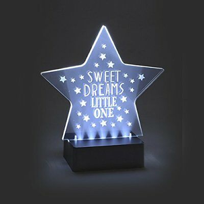 """Think Pink - Luce notturna a LED con scritta """"Sweet dreams little (q8C)"""