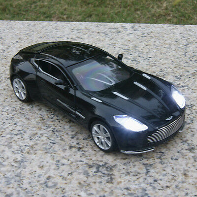 Aston Martin ONE-77 1:32 Toys Model Cars Sound & Light Alloy Diecast Gifts Black
