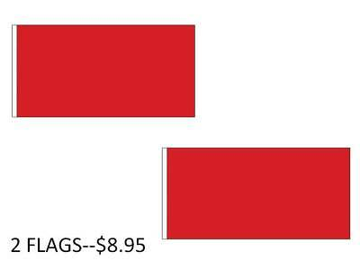 3x5 Plain RED Flag DIY Advertising Banner Solid RED Color FAST USA SHIP