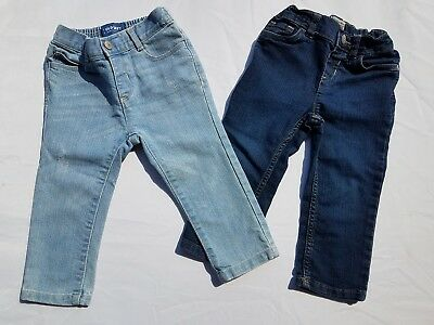 Girls Jeans Old Navy Children's Place Sz 18-24 Months Skinny Straight Lot TCP