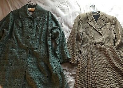 Vintage 1940s 1950s Lot Of Two 2 Coats