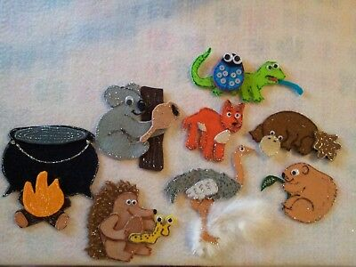 Felt Board/flannel Story Rhyme Teacher Resource - Wombat Stew