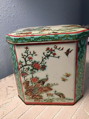 Daher Vintage Peacock Candy Tin GUC Made in England