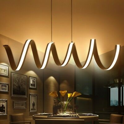 Fashionable Spiral Modern Chandelier with Dimmable LED Lighting Hanging Inspire