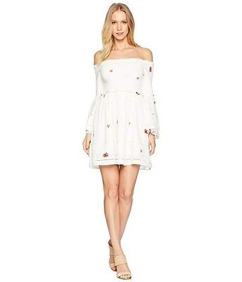 84d1f3c83a579 FREE PEOPLE COUNTING daisies mini dress size medium NWT ivory ...