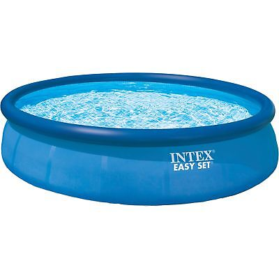Intex Easy Set Pools, Ø 396 x 84 cm, Schwimmbad, hellblau