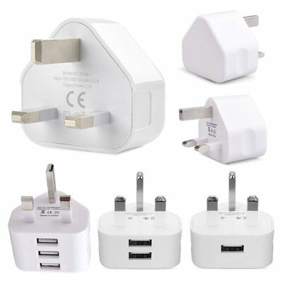 USB wall charger 3PIN UK Plug USB Port AC Power Adaptor for all phones iphone