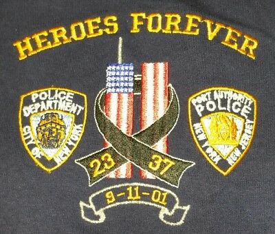 NYPD PAPD New York City Police Department Port Athority WTC T-Shirt Sz 2XL NEW