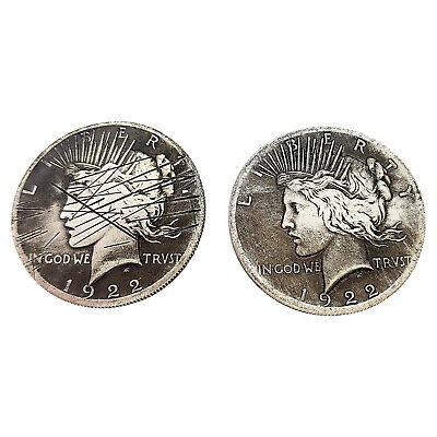 Two Face 2 Sided Coin w/ Scratch Prop Harvey Dent for BATMAN Costume Cosplay