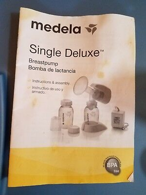 Medela Single Deluxe Electric and Battery Operated Breast Pump EUC