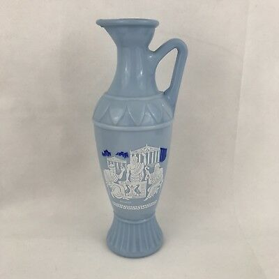 Jim Beam Blue Decanter Grecian Design D334 Socrates Plato Aristotle Vintage 1961