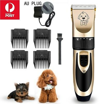Cordless Rechargeable Electric Silent Clipper Pet Cat Dog Hair Trimmer Comb Kits