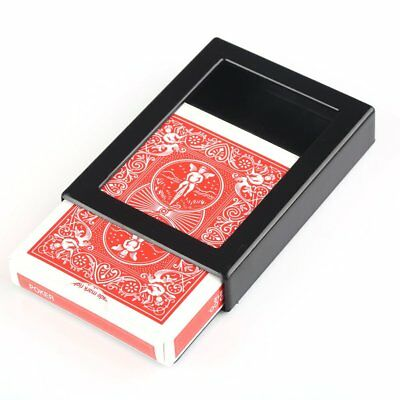 Deck Disappearing Vanishing Magical Card Case Close Up Magic Trick Box Fun Poker