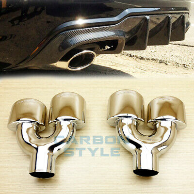 Exhaust Tips For Mercedes-Benz C-Class W204 C250 C300 C350 4D 2D C63AMG Style