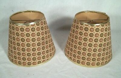 A Vintage Pair Of Mid Century Clip On Retro Lamp Shades