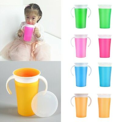 Baby Toddler Drink 360 Degree Miracle Training Cup Anti Spill Sippy Trainer Cup