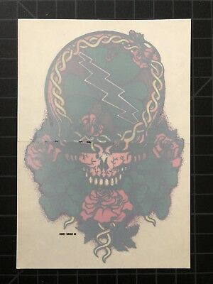 GDM GDP Grateful Dead Jerry Garcia ALL ROSES STEAL YOUR FACE sticker OOP 1995